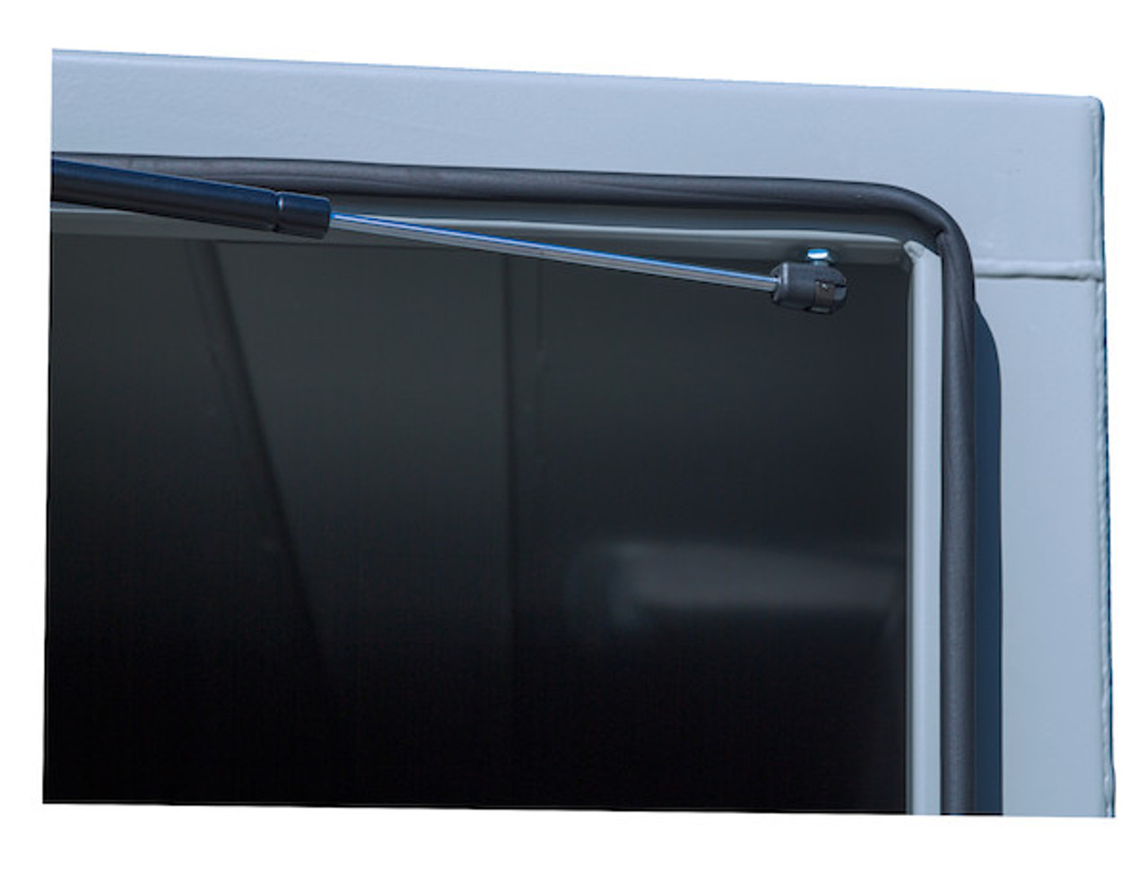 """BP964824P Buyers Primed Steel Straight Side Backpack Truck Toolbox - T-Handle Latch 48""""H x 24""""D x 96""""W Picture # 4"""