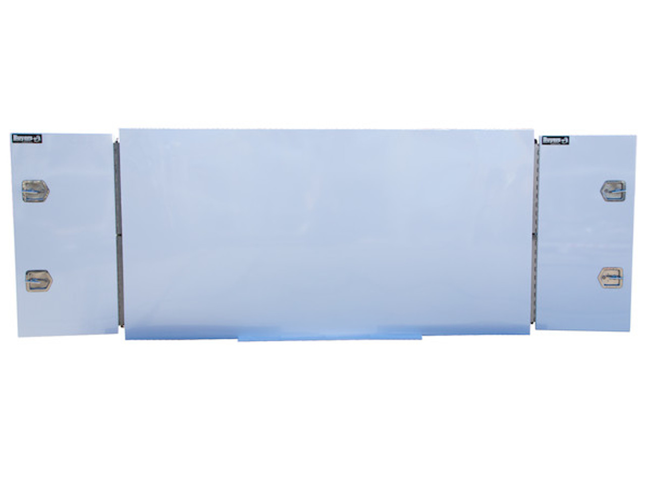 """BP964824W Buyers White Steel Straight Side Backpack Truck Toolbox - T-Handle Latch 48""""Hx24""""Dx96""""W Picture # 8"""