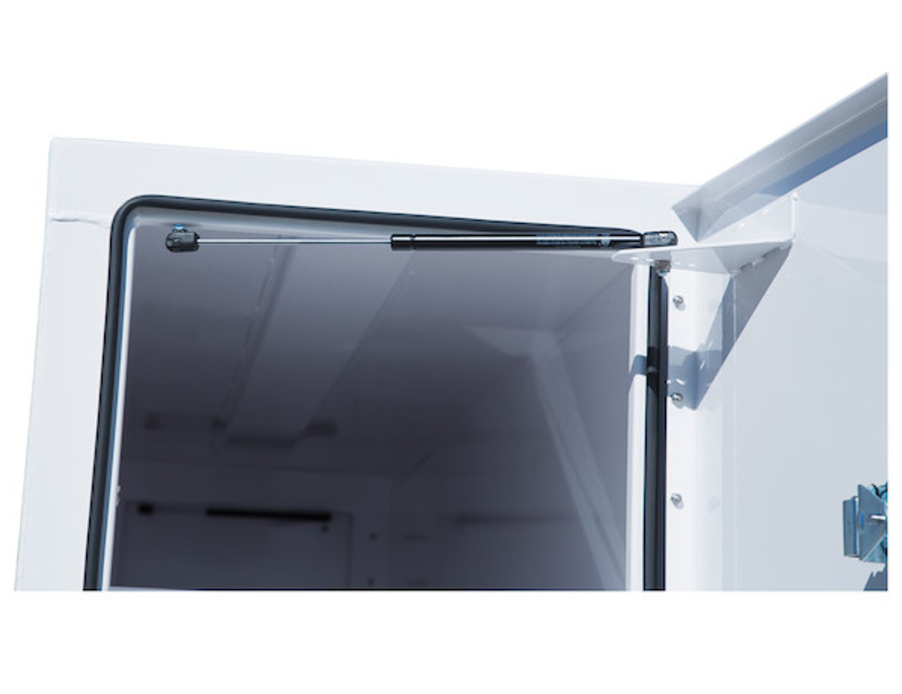 """BP964824W Buyers White Steel Straight Side Backpack Truck Toolbox - T-Handle Latch 48""""Hx24""""Dx96""""W Picture # 5"""
