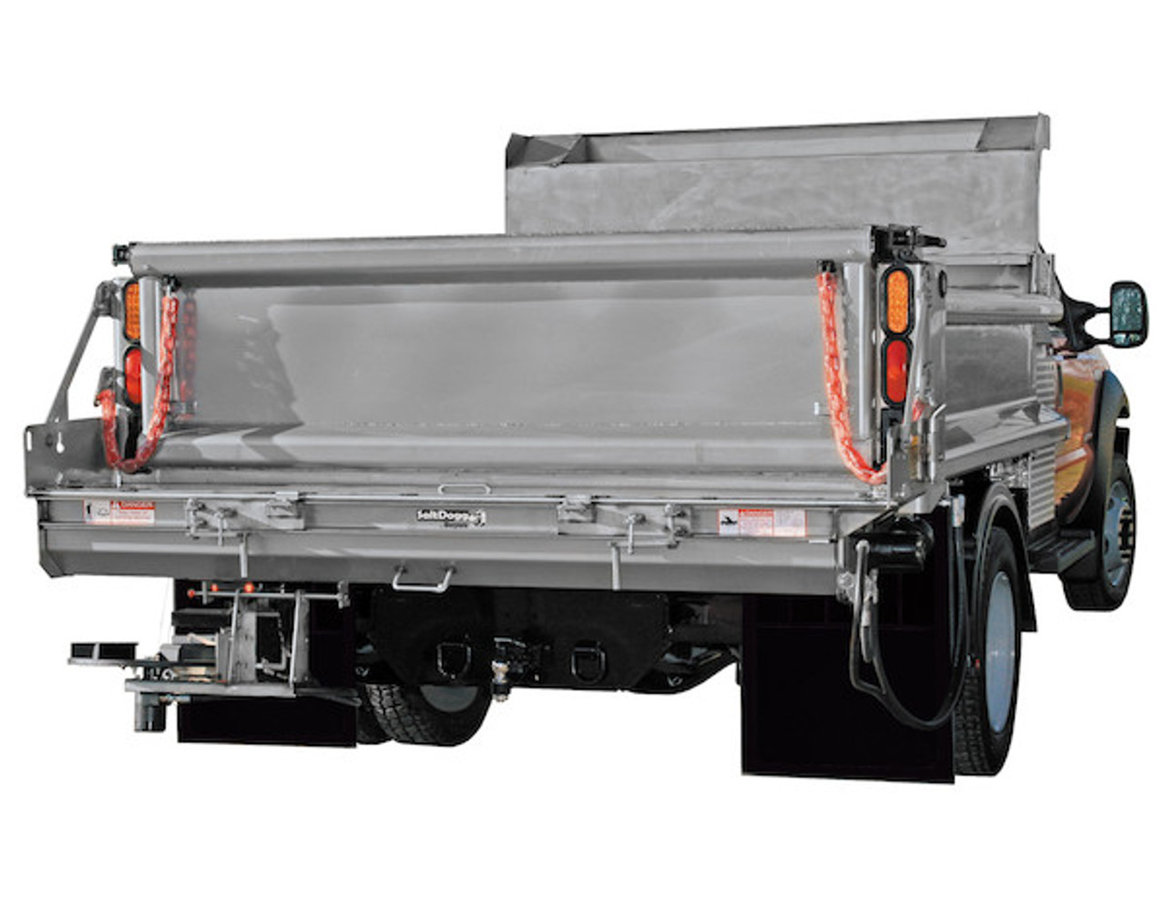 92421SSA BUYERS SALTDOGG HYDRAULIC UNDER TAILGATE SPREADER WITH EXTENDED END PLATES WITH STANDARD DISCHARGE PARISSUPPLY PARIS SUPPLY SALT
