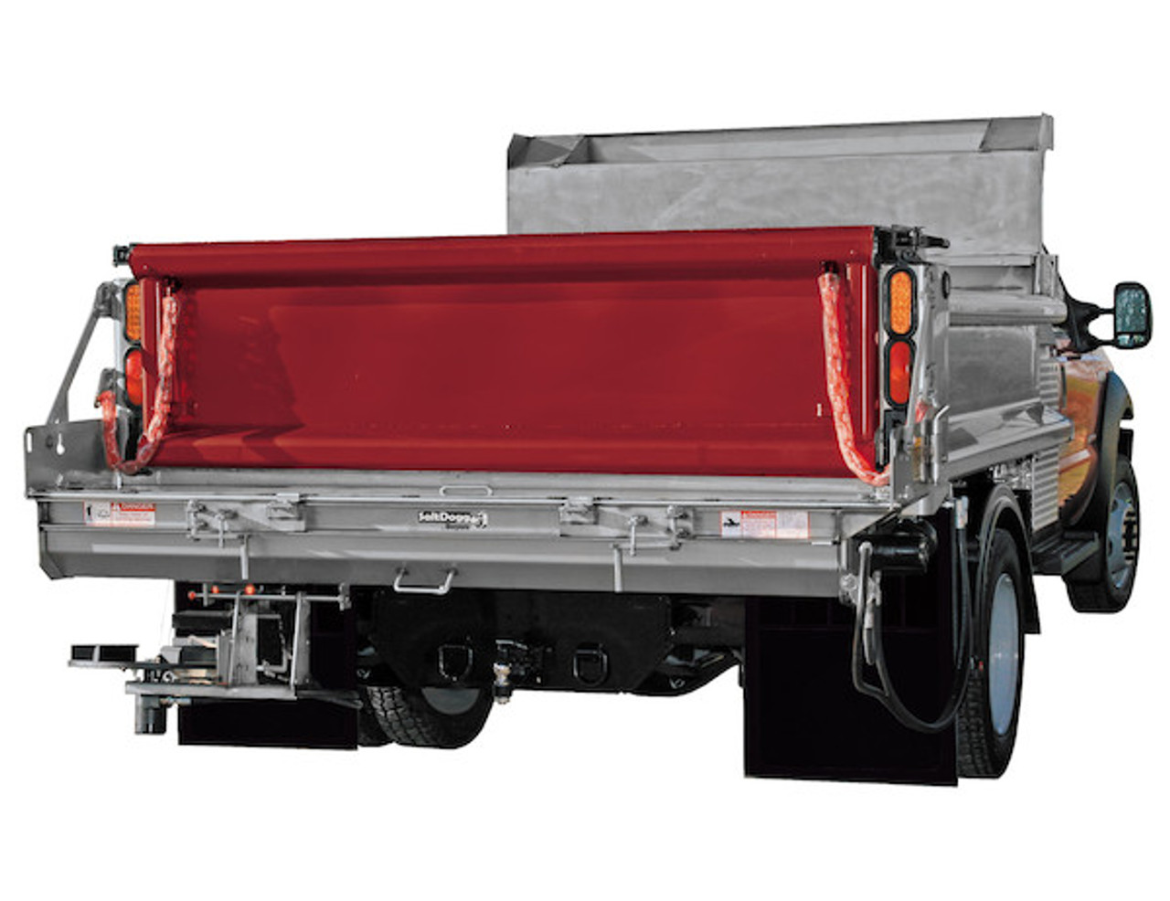 92422SSA BUYERS SALTDOGG HYDRAULIC UNDER TAILGATE SALT SPREADER WITH EXTENDED END PLATES, STANDARD DISCHARGE AND HARD FACED AUGER