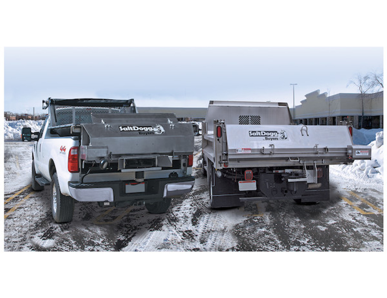 9035101 BUYERS SALTDOGG ELECTRIC REPLACEMENT TAILGATE SALT SPREADER WITH DRIVERS SIDE DISCHARGE