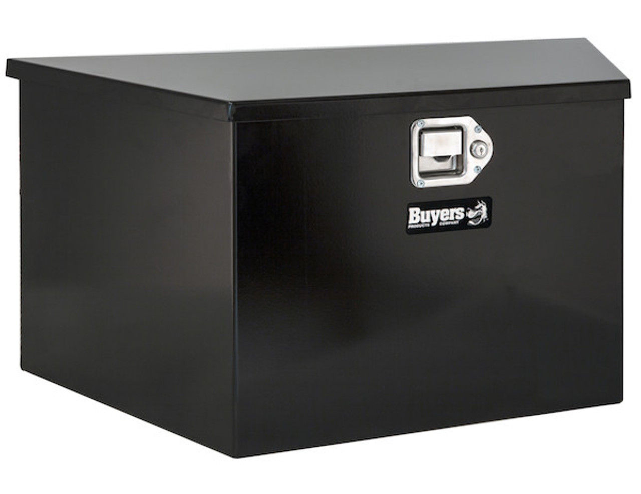 """1701281 BUYERS PRODUCTS BLACK STEEL TRAILER TONGUE TRUCK TOOLBOX 12""""Hx13.30""""Dx26""""W"""