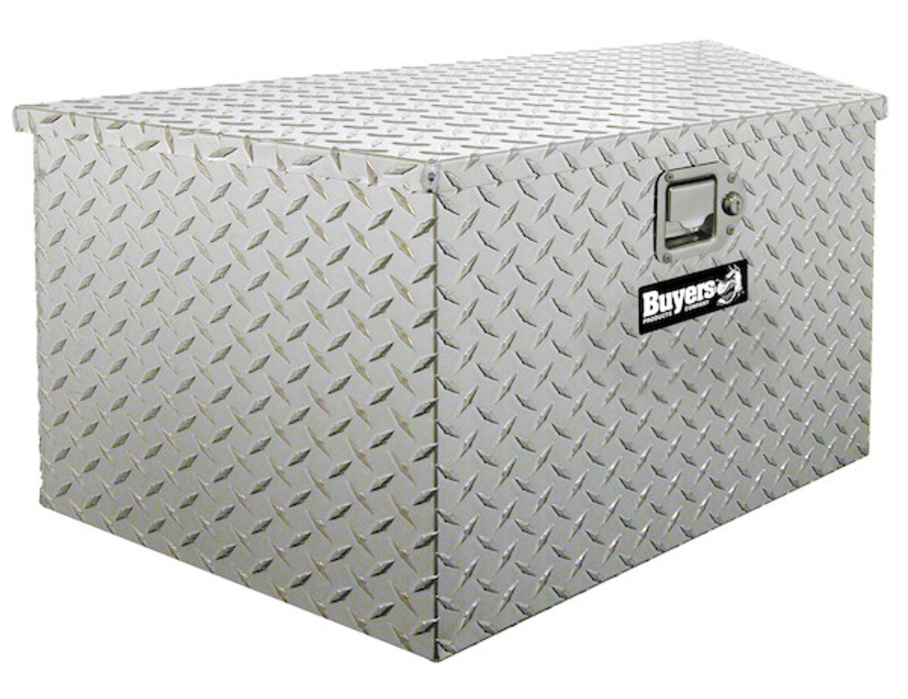 """1701380 BUYERS PRODUCTS DIAMOND TREAD ALUMINUM TRAILER TONGUE TRUCK TOOLBOX 15""""HX14.5""""DX34""""W PICTURE # 1"""