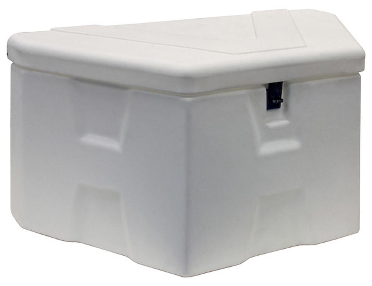 "1701679 BUYERS PRODUCTS WHITE POLY TRAILER TONGUE TRUCK TOOLBOX 18""HX19""DX36""W"