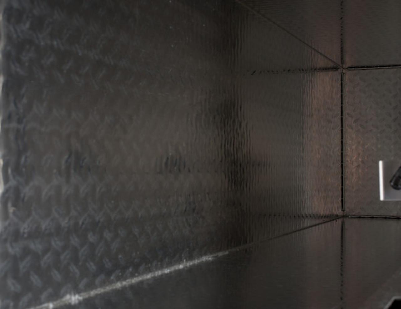 "1701768 BUYERS PRODUCTS DIAMOND TREAD ALUMINUM TOPSIDER TRUCK TOOLBOX WITH FLIP-UP DOOR 18""HX16""DX96""W"