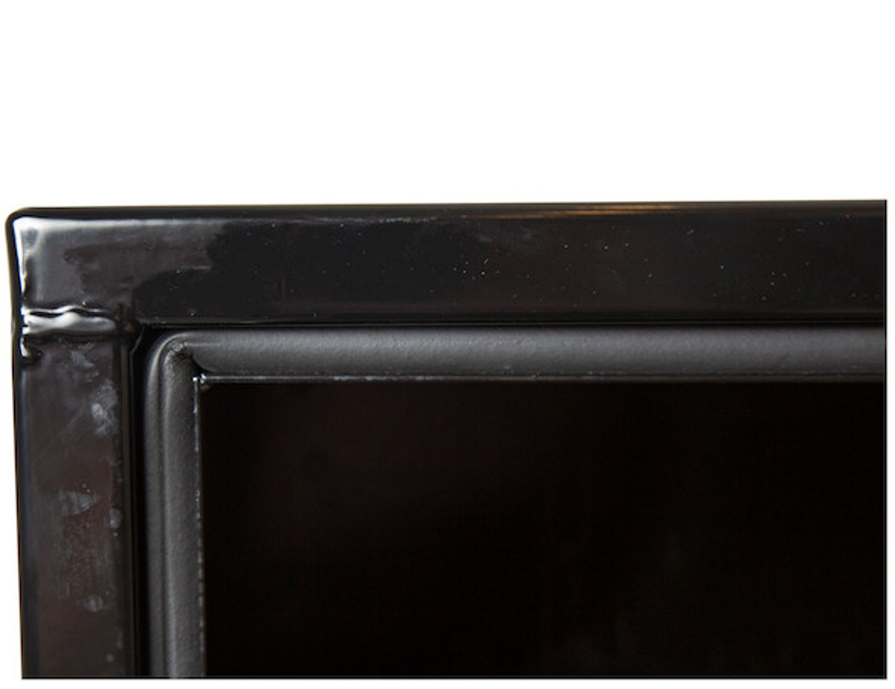 """1702103 BUYERS PRODUCTS BLACK STEEL UNDERBODY TRUCK TOOLBOX WITH PADDLE LATCH 18""""HX18""""DX30""""W"""
