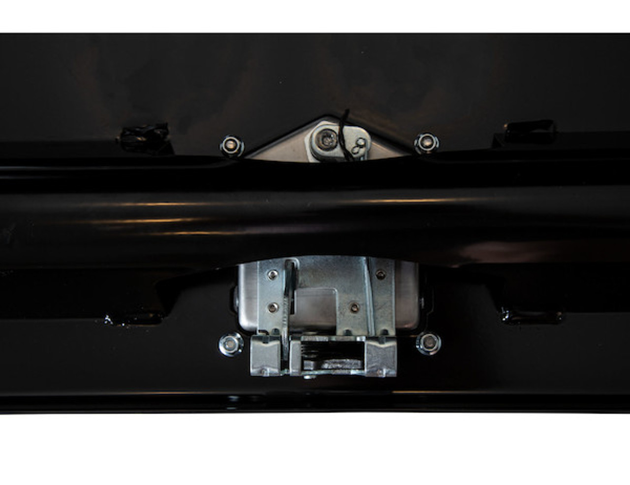 """1702110 BUYERS PRODUCTS BLACK STEEL UNDERBODY TRUCK TOOLBOX WITH PADDLE LATCH 18""""HX18""""DX48""""W"""