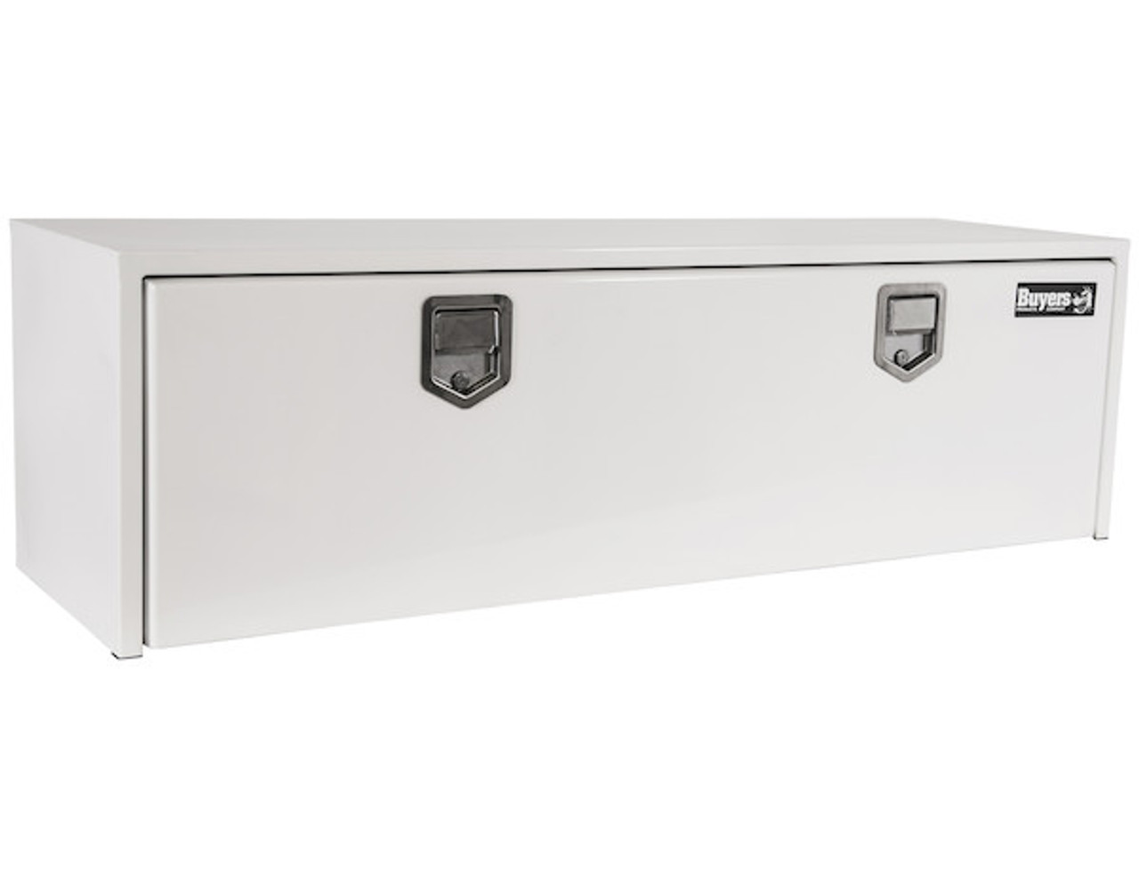 """1702215 BUYERS PRODUCTS WHITE STEEL UNDERBODY TRUCK TOOLBOX WITH PADDLE LATCH 18""""HX18""""DX60""""W"""