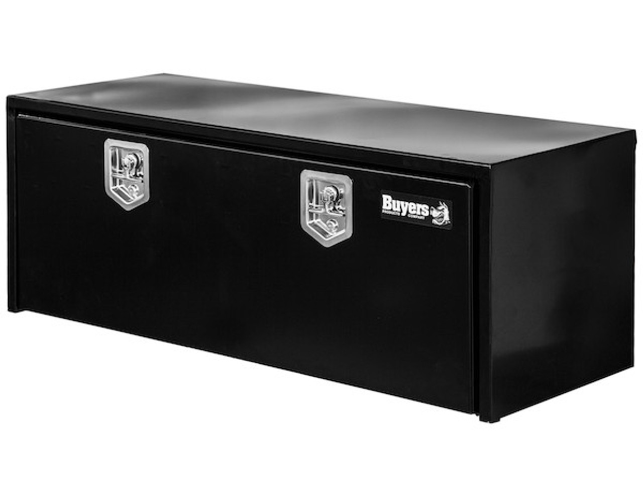 "1702317 BUYERS PRODUCTS BLACK STEEL UNDERBODY TRUCK TOOLBOX WITH T-LATCH 18""HX18""DX66""W"