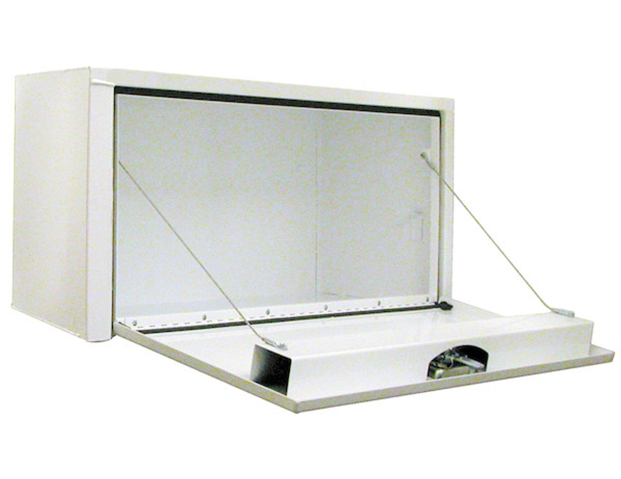 """1702403 BUYERS PRODUCTS WHITE STEEL UNDERBODY TRUCK TOOLBOX 18""""HX18""""DX30""""W"""