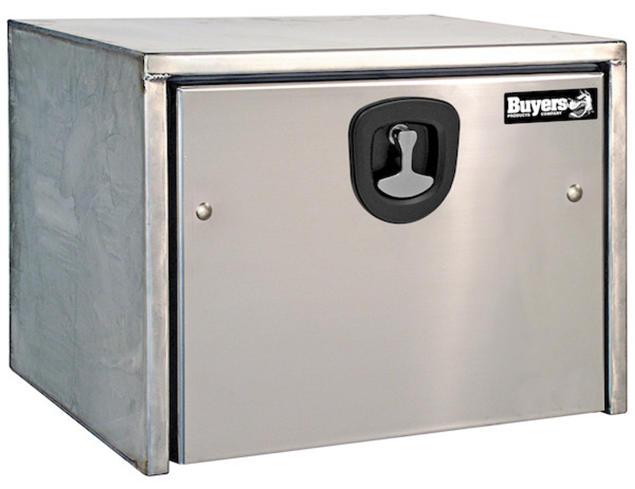 1702595 BUYERS PRODUCTS STAINLESS STEEL UNDERBODY TRUCK BOX WITH POLISHED STAINLESS STEEL DOOR TOOLBOX