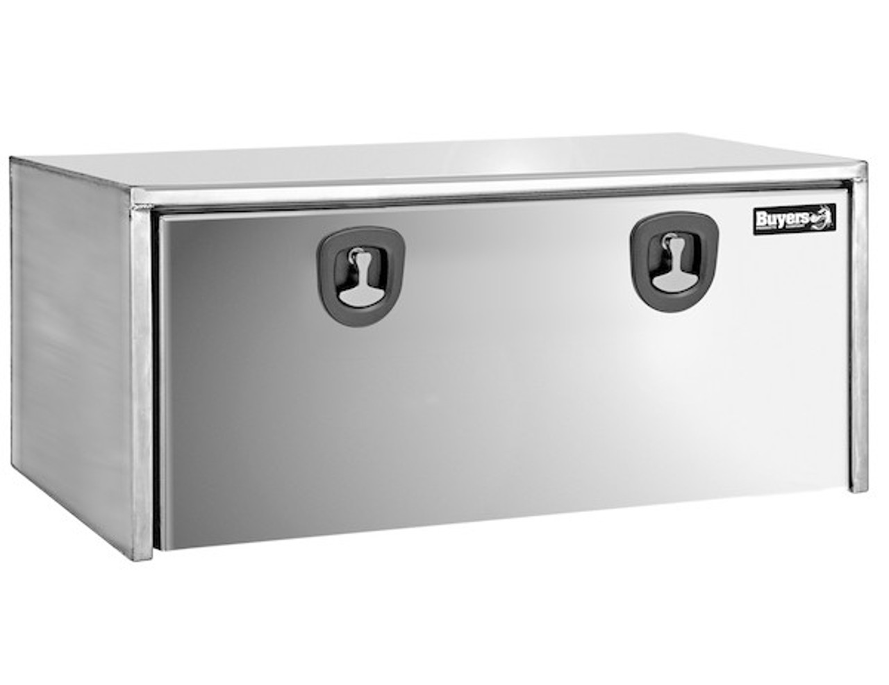 1702610 BUYERS PRODUCTS STAINLESS STEEL UNDERBODY TRUCK BOX WITH POLISHED STAINLESS STEEL DOOR TOOLBOX