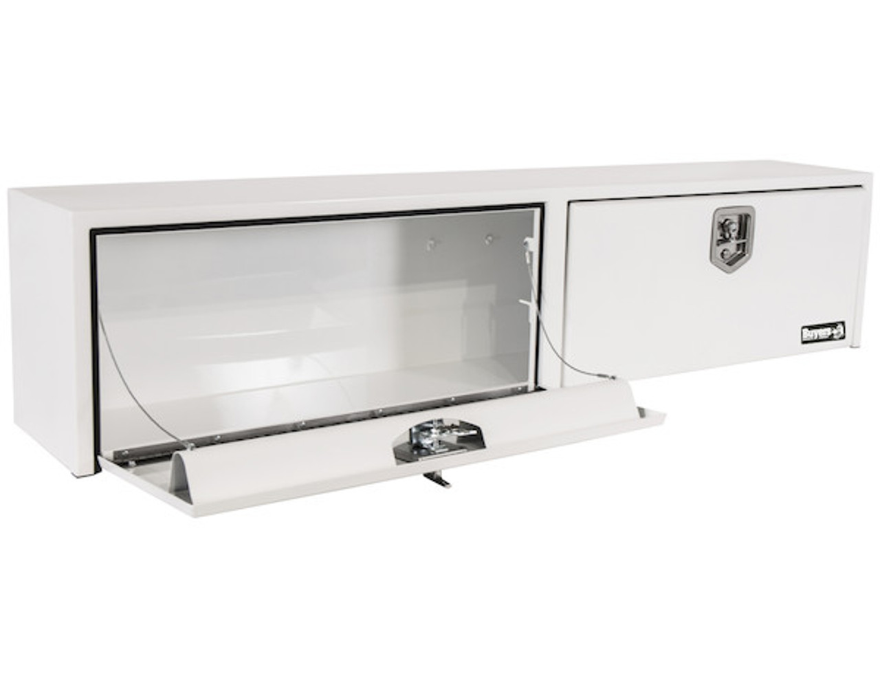 1702840 BUYERS PRODUCTS WHITE STEEL TOPSIDER TRUCK BOX TOOLBOX