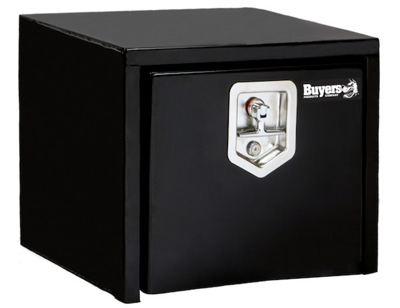 """1703349 BUYERS PRODUCTS BLACK STEEL UNDERBODY TRUCK TOOLBOX WITH T-LATCH 14""""HX12""""DX18""""W"""