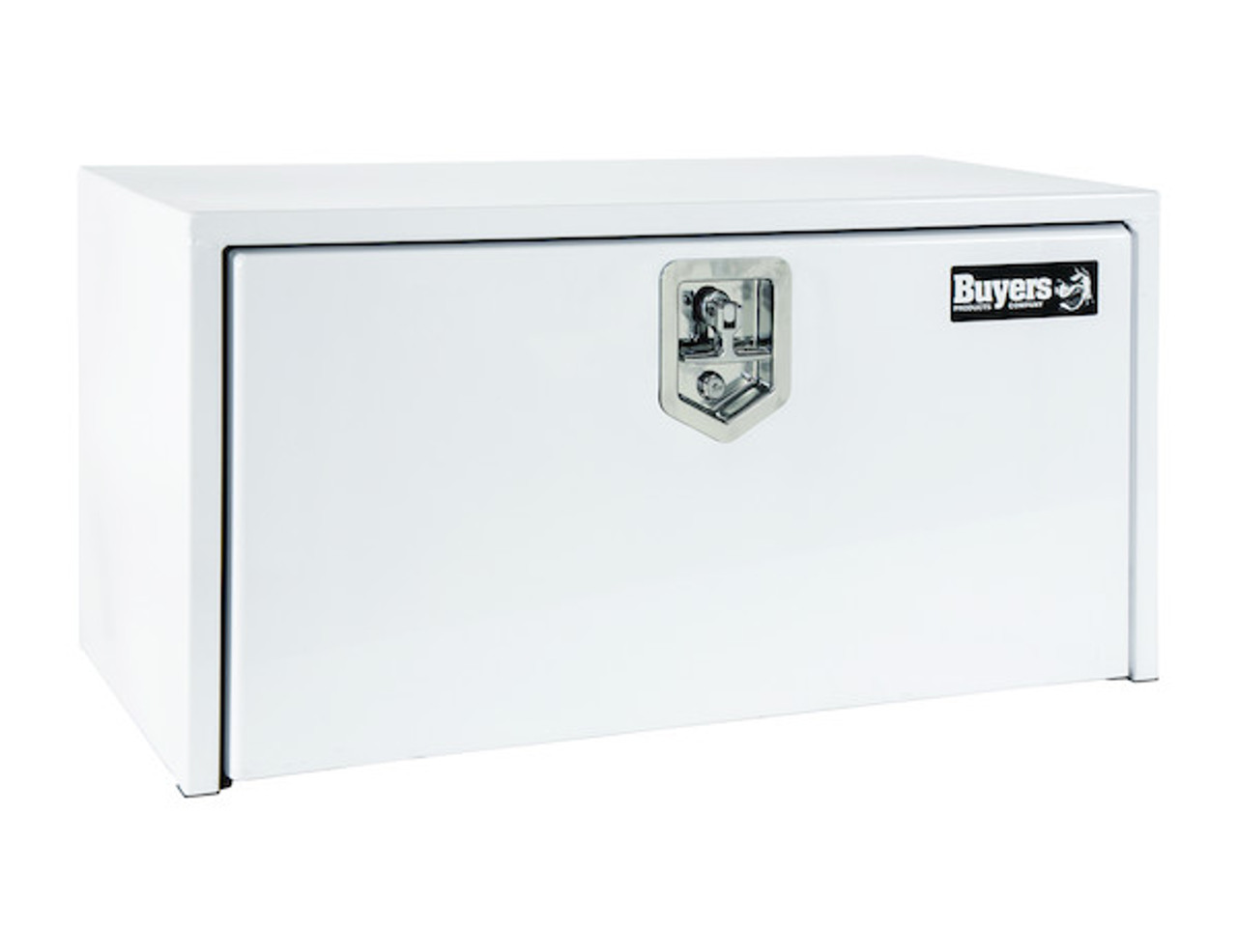"""1704405 BUYERS PRODUCTS WHITE STEEL UNDERBODY TRUCK TOOLBOX 24""""HX24""""DX36""""W"""