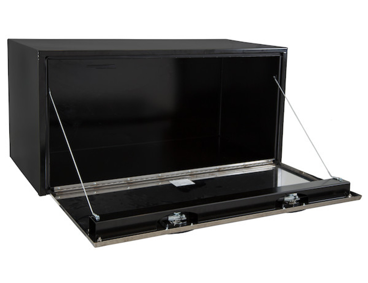 """1704710 BUYERS PRODUCTS BLACK STEEL UNDERBODY TRUCK TOOLBOX WITH STAINLESS STEEL DOOR 24""""HX24""""DX48""""W"""