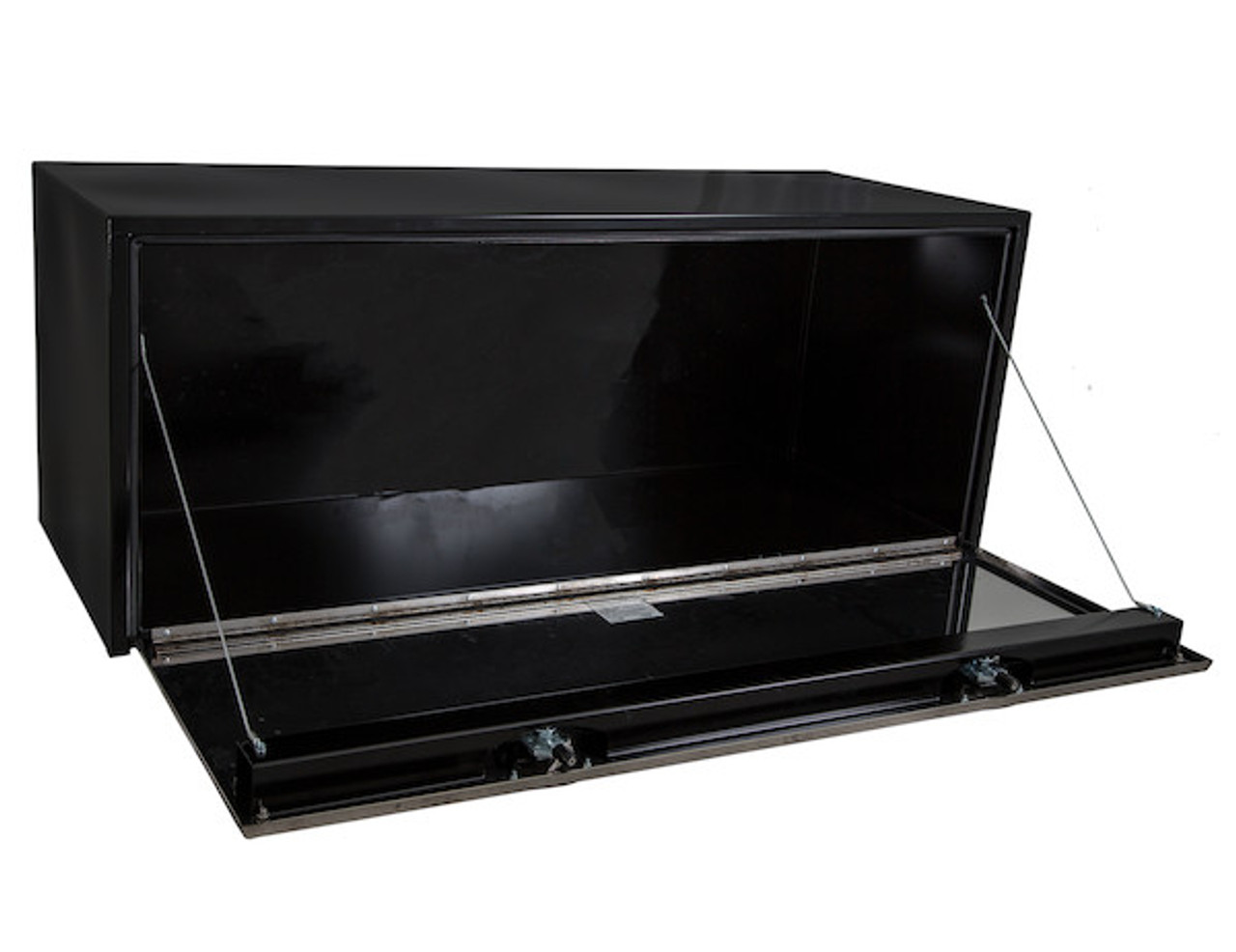 "1704715 BUYERS PRODUCTS BLACK STEEL UNDERBODY TRUCK TOOLBOX WITH STAINLESS STEEL DOOR 24""HX24""DX60""W"