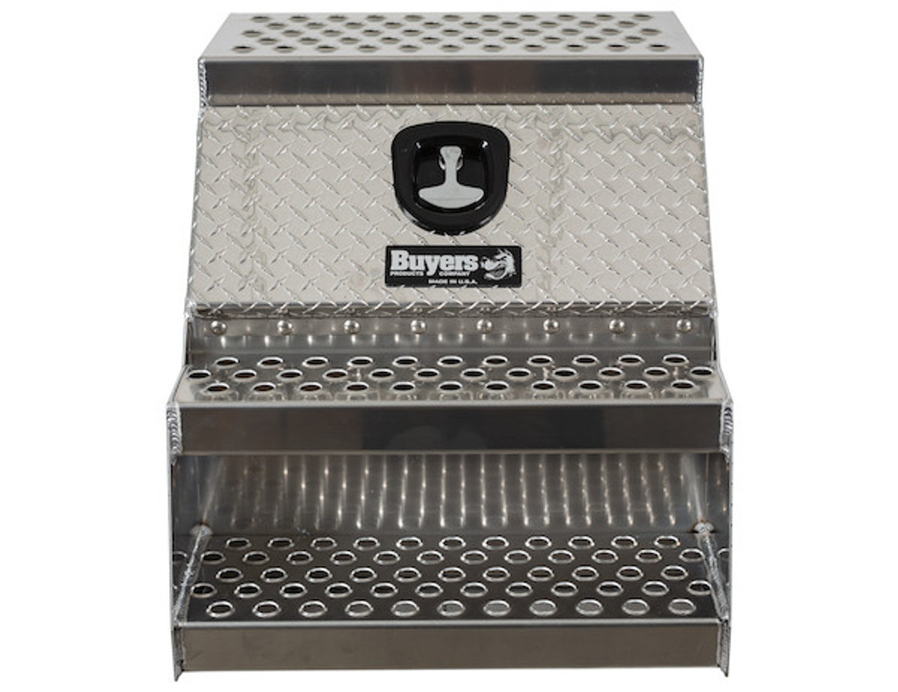 1705182 BUYERS PRODUCTS HEAVY DUTY DIAMOND TREAD ALUMINUM STEP TOOLBOX