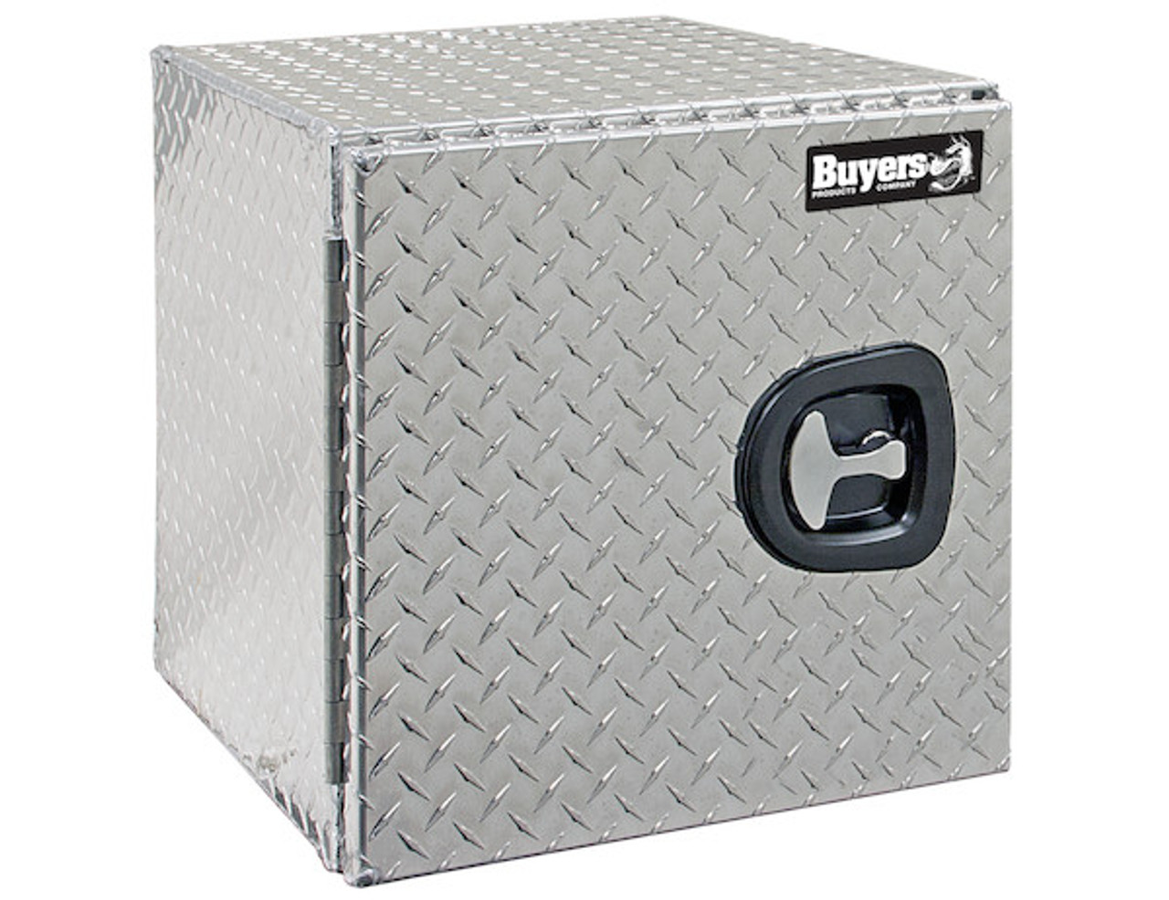 "1705203 BUYERS PRODUCTS DIAMOND TREAD ALUMINUM UNDERBODY TRUCK TOOLBOX WITH BARN DOOR 18""HX18""DX30""W"