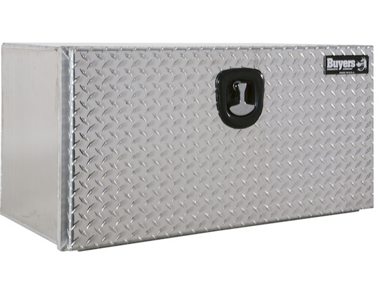 "1706503 BUYERS PRODUCTS XD SMOOTH ALUMINUM UNDERBODY TRUCK TOOLBOX WITH DIAMOND TREAD DOOR 18""HX18""DX30""W"