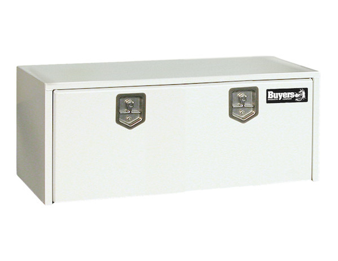 """1708410 BUYERS PRODUCTS WHITE STEEL UNDERBODY TRUCK BOX TOOLBOX 18""""HX24""""DX48""""W"""