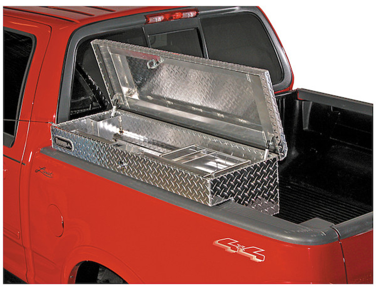 1711025 BUYERS PRODUCTS DIAMOND TREAD ALUMINUM LO-SIDER TRUCK TOOLBOX