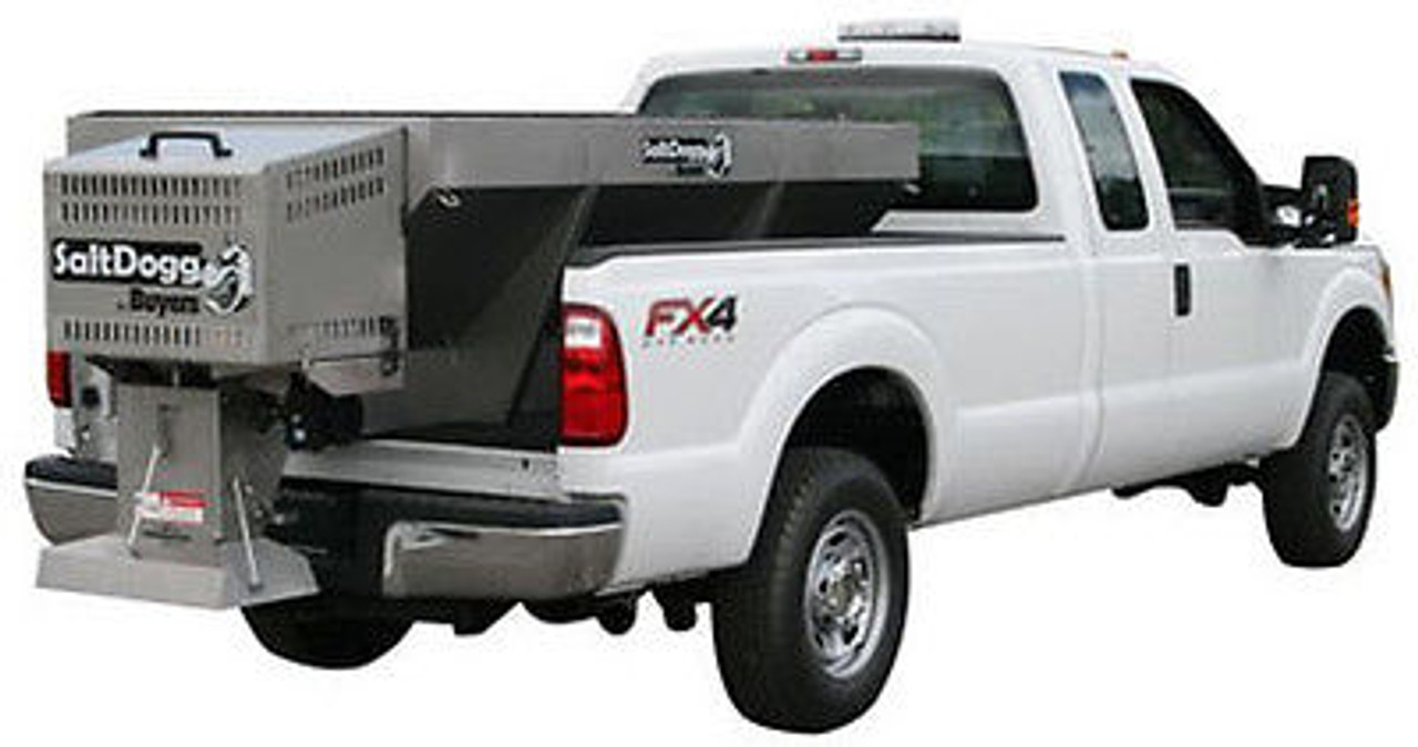 1400250SS BUYERS SALTDOGG 1.5 CUBIC YARD GAS STAINLESS HOPPER SPREADER WITH EXTENDED CHUTE