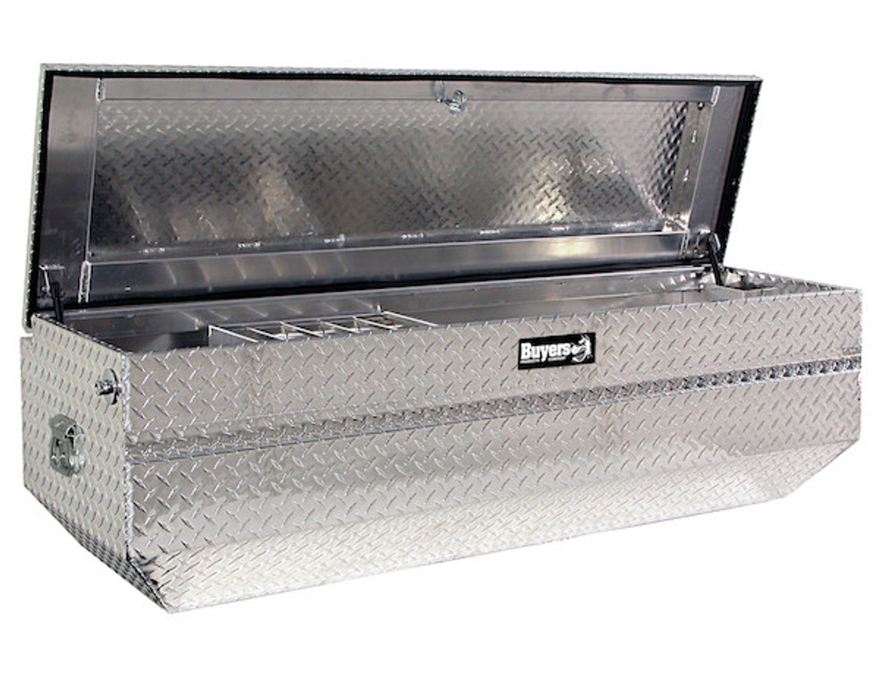 1712020 BUYERS DIAMOND TREAD ALUMINUM ALL-PURPOSE CHEST WITH ANGLED BASE TOOLBOX
