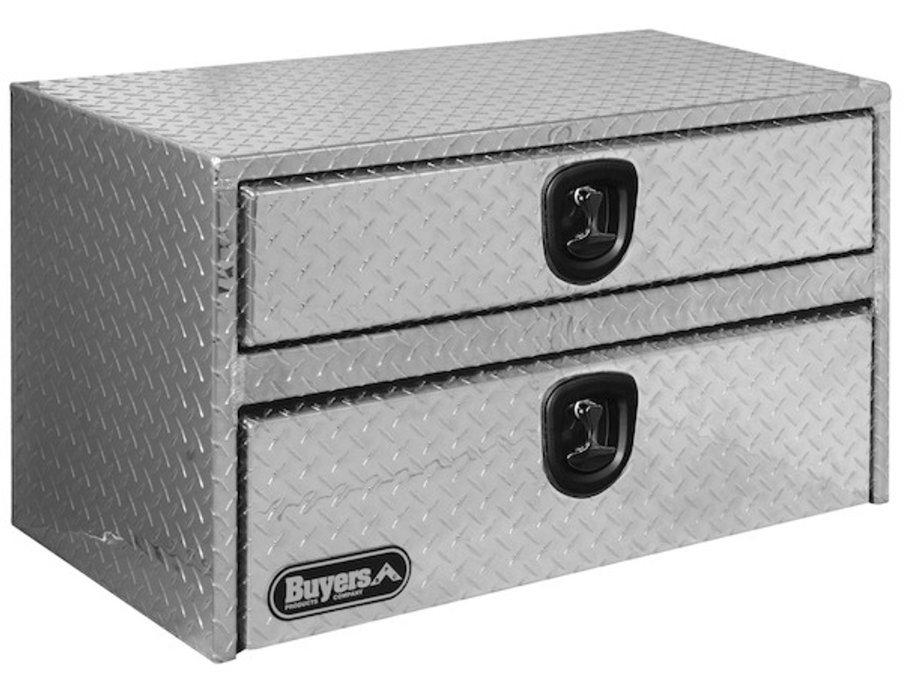 "1712210 BUYERS DIAMOND TREAD ALUMINUM UNDERBODY TRUCK BOX WITH DRAWER TOOLBOX 20""HX18""DX48""W"