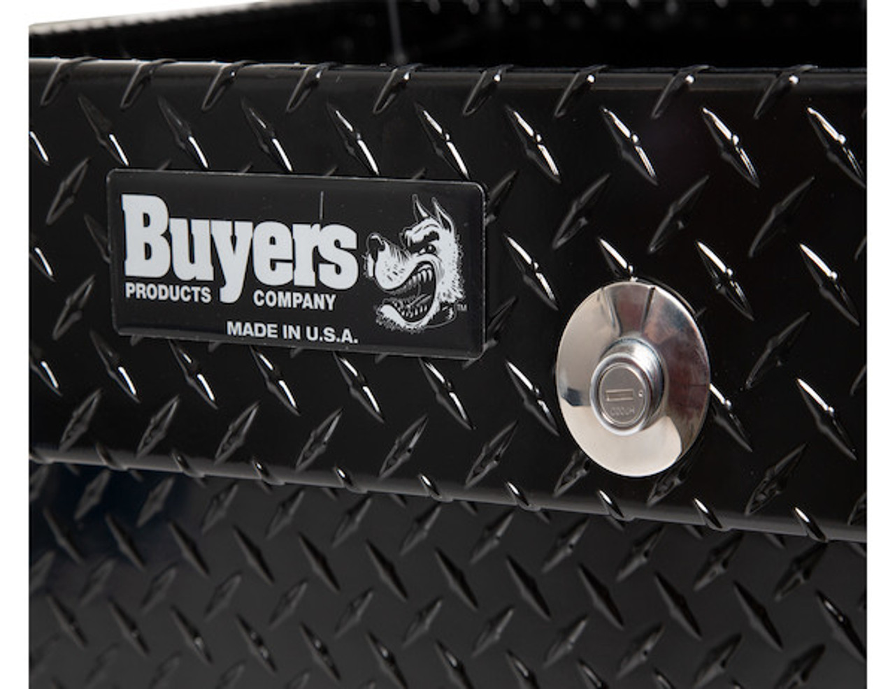 "1720305 BUYERS BLACK DIAMOND TREAD ALUMINUM GULL WING TRUCK TOOLBOX 18""Hx20""Dx71""W"