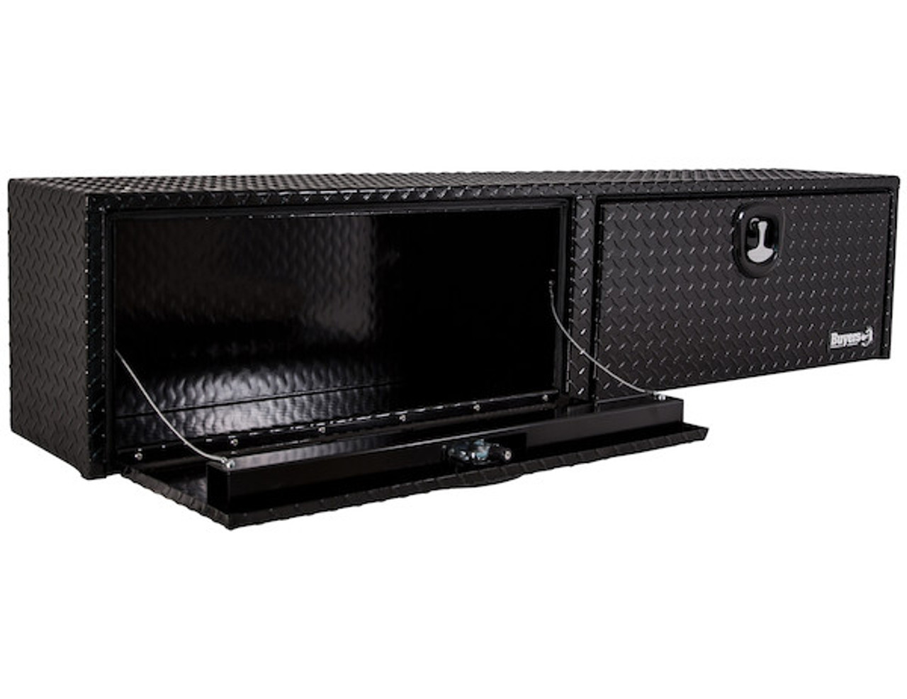 "1721561 BUYERS PRODUCTS DIAMOND TREAD ALUMINUM TOPSIDER TRUCK BOX TOOLBOX 13""Hx16""Dx96""W"