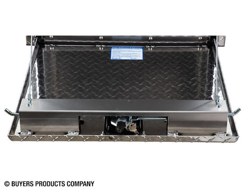 "1735135 BUYERS PRODUCTS DIAMOND TREAD ALUMINUM UNDERBODY TRUCK TOOLBOX WITH 3-PT. LATCH 24""Hx24""Dx36""W"