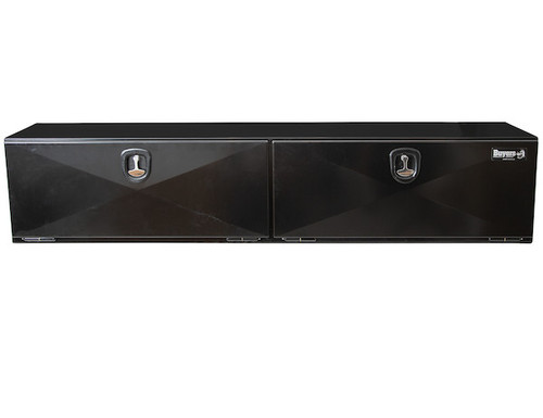"""1742336 BUYERS PRODUCTS XD BLACK STEEL UNDERBODY HEAVY DUTY TRUCK TOOLBOX 18""""Hx18""""Dx96""""W PICTURE # 2"""
