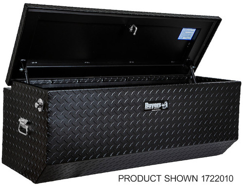 "1722010 BUYERS PRODUCTS TEXTURED MATTE BLACK DIAMOND TREAD ALUMINUM ALL-PURPOSE TOOLBOX WITH ANGLED BASE 19""HX20""DX47""W Picture # 2"