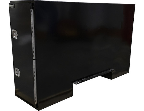 """BP965724B BUYERS BLACK STEEL STRAIGHT SIDE BACKPACK TRUCK TOOL BOX WITH OFFSET FLOOR 57""""HX24""""DX96""""W PICTURE # 2"""