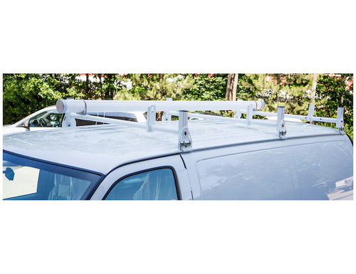 BUYERS 1501310 White Van Ladder Rack Set - 2 Bars And 2 Clamps Picture # 2