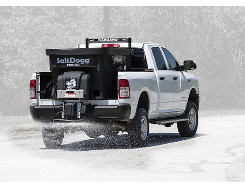PRO1500 BUYERS SALTDOGG 1.5 Cubic Yard Electric Poly Hopper Spreader - Auger 2