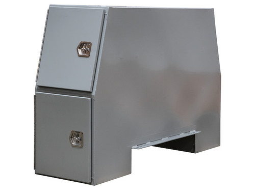 "BP855524P BUYERS PRIMED STEEL BACKPACK TRUCK BOX WITH OFFSET FLOOR 55""H x 24""D x 85""W Picture # 2"