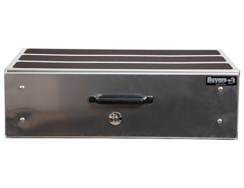 "1718020 BUYERS SMOOTH ALUMINUM SLIDE OUT TRUCK BED TOOLBOX 12""HX24""DX40""W  PICTURE # 2"