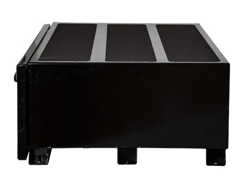 """1718315 BUYERS SMOOTH BLACK ALUMINUM SLIDE OUT TRUCK BED TOOLBOX 9""""Hx48""""Dx40""""W PICTURE # 2"""