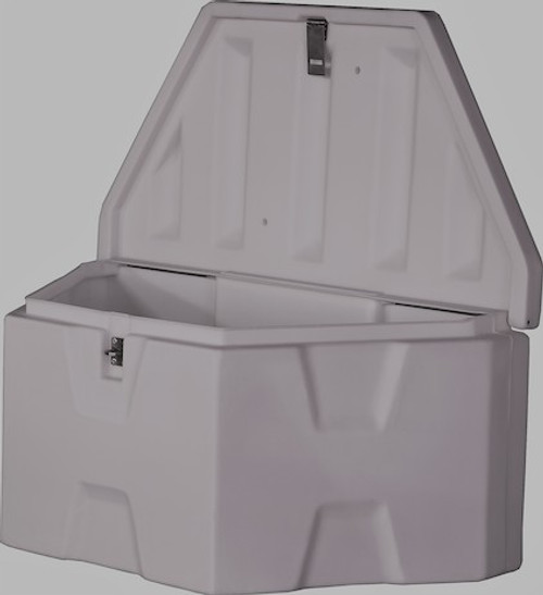 1701679 BUYERS PRODUCTS WHITE POLY TRAILER TONGUE TRUCK BOX TOOLBOX