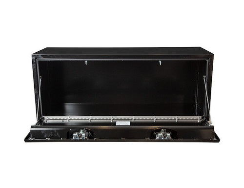 "1702110 BUYERS PRODUCTS BLACK STEEL UNDERBODY TRUCK TOOLBOX WITH PADDLE LATCH 18""HX18""DX48""W"