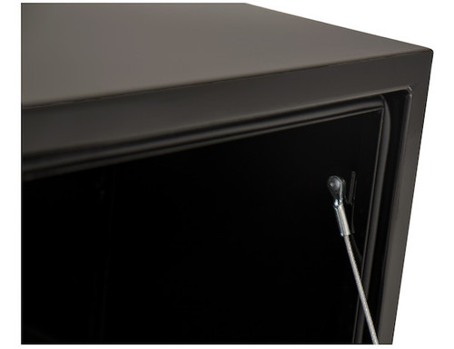 """1702310 BUYERS PRODUCTS BLACK STEEL UNDERBODY TRUCK TOOLBOX WITH T-LATCH 18""""HX18""""DX48""""W"""