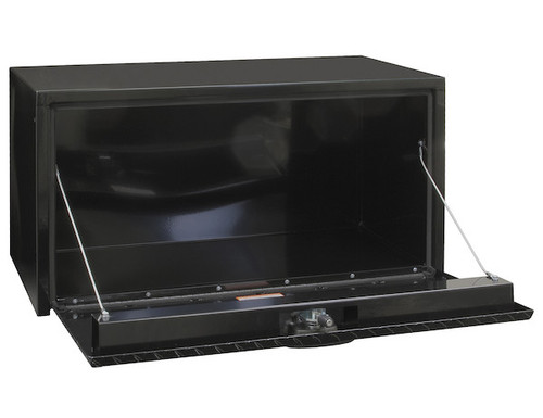 "1702500 BUYERS PRODUCTS BLACK STEEL UNDERBODY TRUCK TOOLBOX WITH ALUMINUM DOOR 18""HX18""DX24""W"