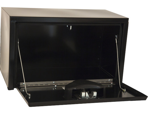1703150 BUYERS PRODUCTS BLACK STEEL UNDERBODY TRUCK BOX WITH PADDLE LATCH TOOLBOX