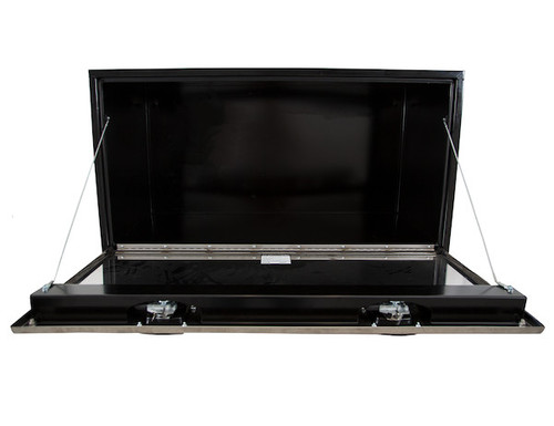 "1704710 BUYERS PRODUCTS BLACK STEEL UNDERBODY TRUCK TOOLBOX WITH STAINLESS STEEL DOOR 24""HX24""DX48""W"