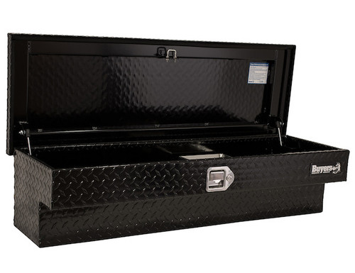 "1721030 BUYERS PRODUCTS BLACK DIAMOND TREAD ALUMINUM LO-SIDER TRUCK TOOLBOX 13""Hx16""Dx87""W"