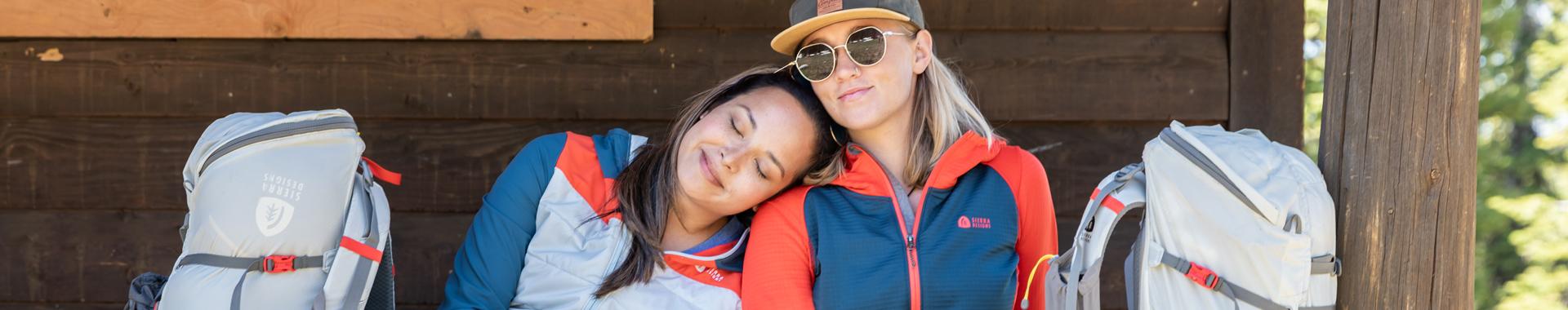 Two women wearing Sierra Designs apparel