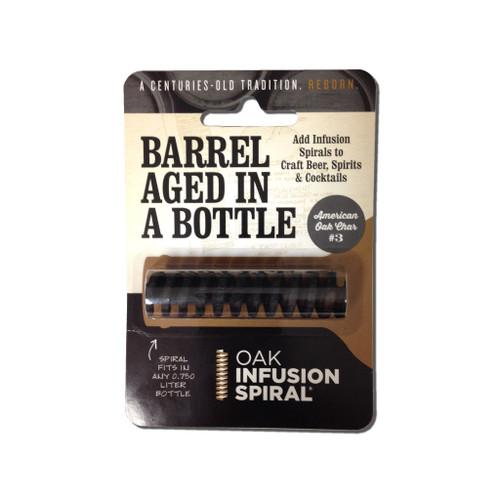 Oak spiral barrel age in a bottle package